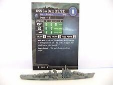 USS SAN DIEGO (CL 53), AXIS & ALLIES WAR AT SEA, FLANK SPEED, 19/40