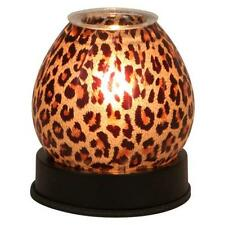 Touch Lamp Cheetah  Print Glass Scented Fragrance Oil Warmers Burners