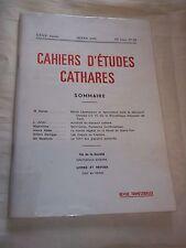 ROCHE (Déodat) (dir.) CAHIERS D ETUDES CATHARES. N° 88 (1980) CATHARISME
