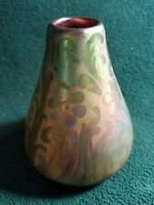 "RARE WELLER SICARD 4"" VASE - 1905-1907 - DOUBLE SIGNED"
