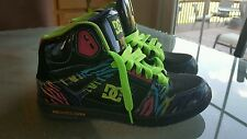 DC REBOUND HIGH WOMENS SZ 7 BLACK GREEN BLUE PURPLE SKATEBOARD SHOES