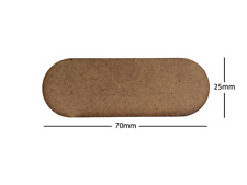 70x25mm Bike LASER CUT MDF 2mm Wooden Bases for Wargames