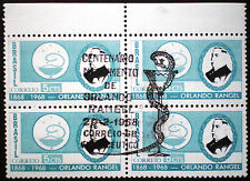 Brazil 1968 Scott #1075 block of four mnh with first day of issue special cancel