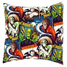 Hemet Monsters Envelope Throw Pillow Cover Frankenstein Dracula Mummy Wolfman