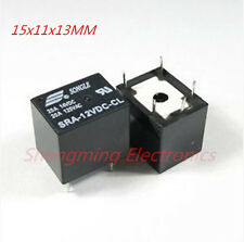 10PCS SRA-12VDC-CL T74 DC 12V Coil 20A PCB General Purpose Relay 5 Pins SPDT
