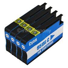 4 Patronen für HP 951 XL cyan für DRUCKER 8610 8620 8630 8640 8615 251DW 276DW