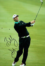 Bradley DREDGE SIGNED Golf Autograph 12x8 Photo AFTAL COA