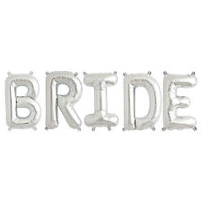 Party Supplies Silver 41cm Foil Letters Balloon  'BRIDE' Wedding Engagment Party