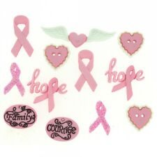 Courage & Hope - Dress It Up Buttons, scrapbook, craft, cancer awareness ribbons