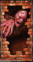 "Scary MELTING ZOMBIE Halloween Party DOOR COVER POSTER Decoration 65"" x 33"""