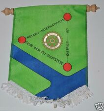 Vintage Wijk Bij Duurstede Netherlands Rotary International Club Banner Flag