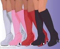 *Go Go Gogo Girl 60s 70s Hippy Hippie Shoe Fancy Dress Costume Boot Top Covers*