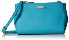 Kate Spade Torrence Newbury Lane Turquoise Saffiano Leather Crossbody Purse Bag