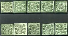 GERMANY STATES BRUNSWICK SCOTT# 6 MICHEL# 10A MINT NO GUM LOT OF 10 AS SHOWN