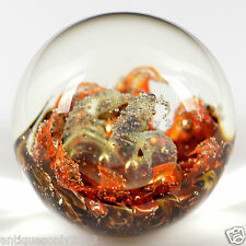 LARGE SELKIRK Scottish AUTUMN BREEZE Art Glass Paperweight SIGNED LABELLED #1472