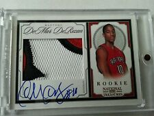DEMAR DEROZAN 2009-10 NATIONAL TREASURES 3-CLR GOLD RC AUTO PATCH #18/25 WOW!!!