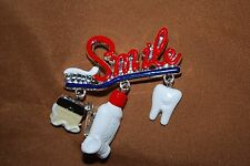 Smile Dental Charm Pin Dentist Teeth Toothpaste Toothbrush Molar Free Shipping