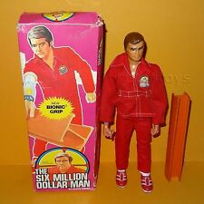 Vintage 1975 denys fisher six millions de dollars bionic man grip action figure boxed