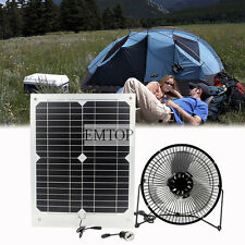 Solar Fan 8 inch  Powered Solar 20W for summer garden office beach travling