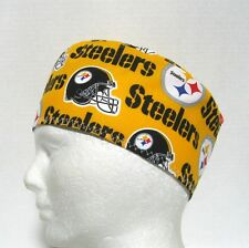 Pittsburgh Steelers Mens Scrub Hat, Velcro Close, Skull Surgical Cap, Chemo Hat