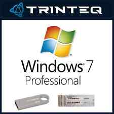 Microsoft Windows 7 Professional Pro SP1 64Bit Bootable USB + COA Multi-Language
