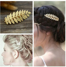 Women Girls Retro Gold Leaf Branch French Hair Clip Hairpin Barrette Bobby Pin