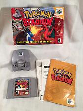 Pokemon Stadium, Nintendo 64 (N64) Game Cartridge, Complete Set IN BOX!