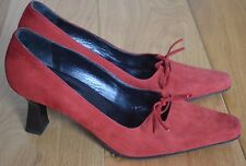 Gorgeous Marilyn Anselm by Hobbs Red/Orange Suede Court Shoes. Size 5.