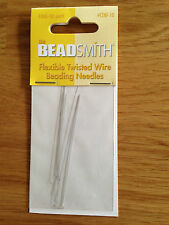 Beadsmith Flexible Twisted Wire Beading Needles - Fine - 10 Pack - jewellery