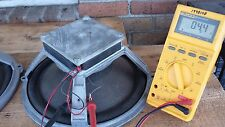 """Pair Vintage 67 Wharfedale  12"""" Cast Speakers / Woofer, Square Alnico England"""