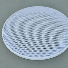"""2pcs New 4"""" inch White Audio Speaker Cover Decorative Circle Metal Mesh Grille"""