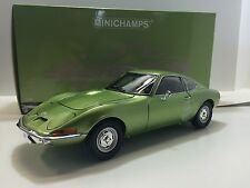 Minichamps 1/18 Opel Gt 1900 Coupè 1970 Green Met. Art. 180049029