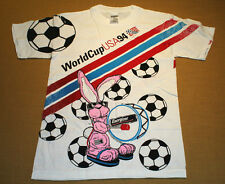 S * NOS vtg 90s 1994 ALL OVER PRINT world cup soccer t shirt * ENERGIZER BUNNY
