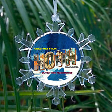Star Wars Ice Planet Hoth Snowflake Blinking Holiday Christmas Tree Ornament