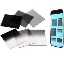 6pcs Graduated ND2 ND4 ND8 Grey Square Filter Set For Cokin P Series ND2 4 8