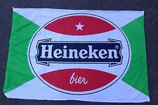 Authentic Heineken Beer Bier Flag Amsterdam Netherlands Soccer Authentic Vintage