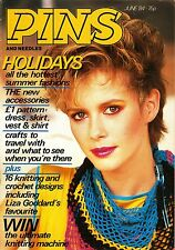 PINS AND NEEDLES Magazine JUNE 1984 KNITTING Crochet DESIGNS Patterns @EXCLT@