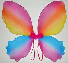 Very Nice & Beautiful Butterfly Shape Fairy Wings ! Multi Colour Rainbow !