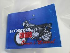 Honda CB500 owners manual 1971-1972