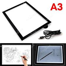 A3 Large LED Ultra Slim Art Craft Tracing Tattoo Light Box Pad Board Lightbox