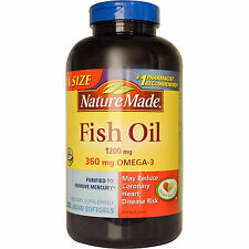 Nature Made Fish Oil 1200MG 360 mg Ultra Omega-3    200 CT softgels
