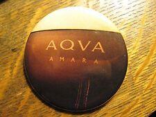 Bulgari Aqva Amara Italy Designer Fragrance Advertisement Pocket Lipstick Mirror
