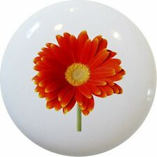 DAISY Daisies Flower Cabinet DRAWER Pull KNOB Ceramic