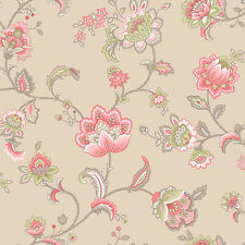 3 Rolls Esme Coral Paisley Floral Feature Wallpaper Holden 11422