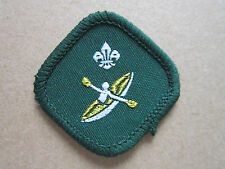 Canoeist Proficiency Woven Cloth Patch Badge Boy Scouts Scouting