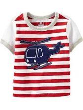 AUTH. BNWT OLD NAVY APPLIQUE GRAPHIC STRIPED TEES FOR BABY (12-18 MOS.), RED