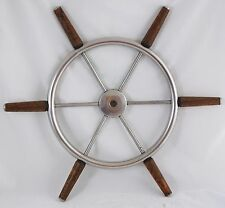 "Antique ChrisCraft Helm Wheel Ship wheel 22"" Mahogany grips1968 Cavalier Cutlass"
