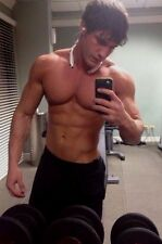 Shirtless Male Muscular Fitness Gym Jock Pumped Physique Hunk PHOTO 4X6 D256