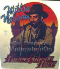 1980 Willie Nelson Honeysuckle Rose Country Concert vtg t-Shirt Iron-On Transfer