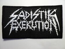 SADISTIK EXEKUTION  EMBROIDERED  PATCH
